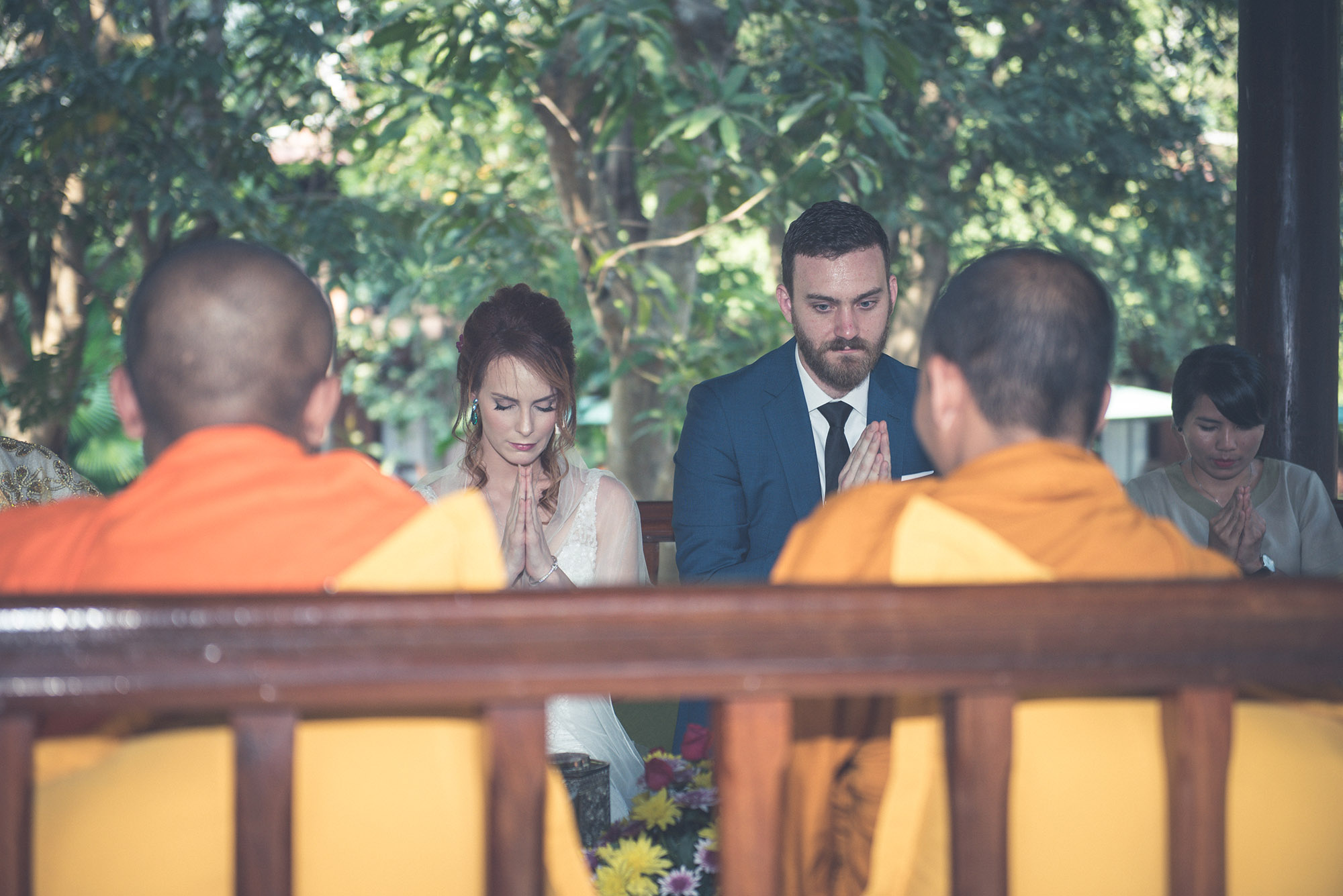 Monks blessing at Hotels Siem Reap
