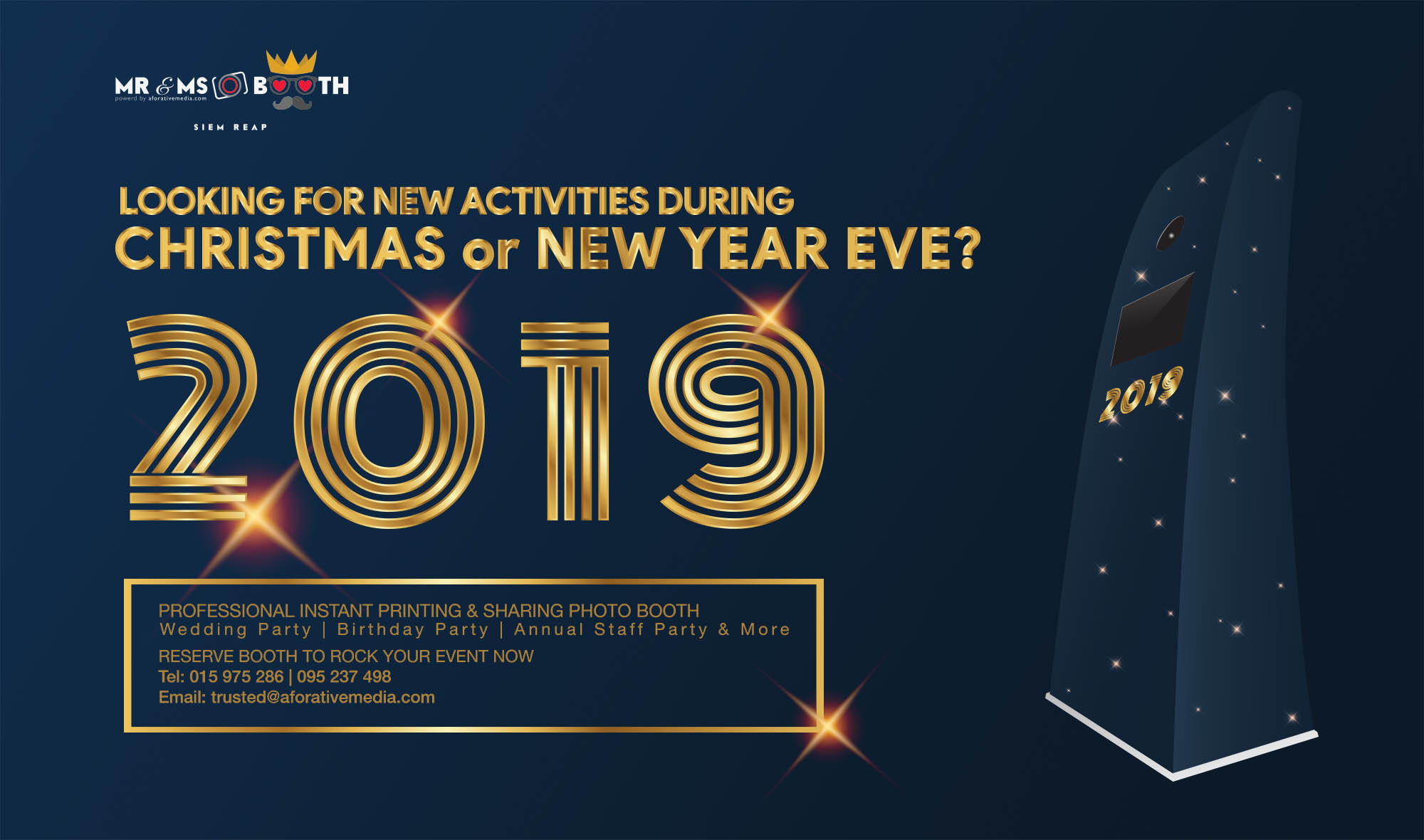 activities for new year 2019 - photo booth