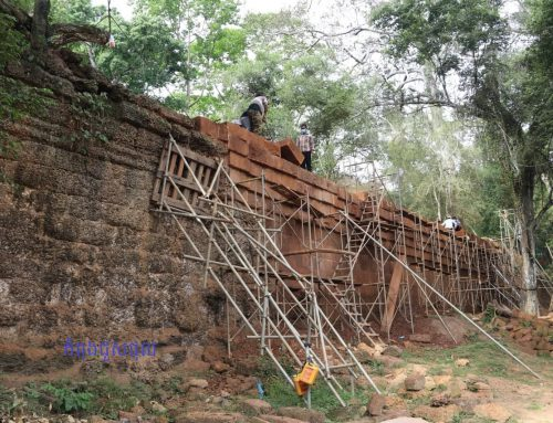 To Keep the Angkor Thom's Wall, Stand Tall It need restoration and Conservation